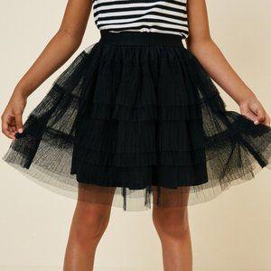 Kids Tulle Lace Mini Skirt